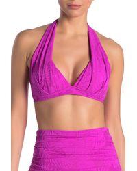 Athena Sun Daze Halter Bikini Top - Purple