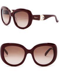 Ferragamo - 53mm Oversized Sunglasses - Lyst