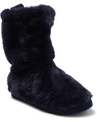 Joules - Homestead Luxe Faux Fur Slipper Sock - Lyst