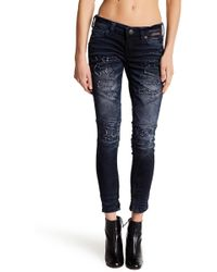 Affliction - Raquel Rising Redwood Distressed Jeanss - Lyst