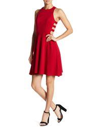 Soprano - Side Cutout Skater Dress - Lyst