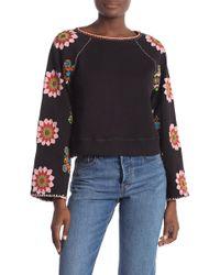 Love Sam Nature Quilt Sweatshirt - Black