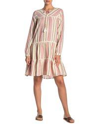 Caslon Striped Novelty Dress - Pink