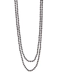 "Carolee - 60"" Long Strand Faceted Bead Necklace - Lyst"