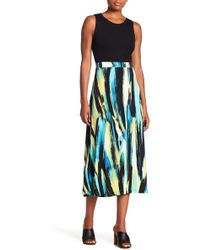 Kasper - Cabana Patterned Midi Skirt - Lyst