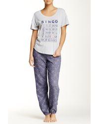 Jane & Bleecker New York - Printed Pyjama Jogger Pant - Lyst