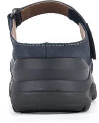 White Mountain Footwear Fit Leather Mary-jane Mule - Blue