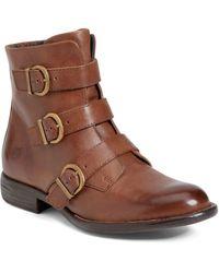 Born Nivine Leather Buckle Boot - Brown