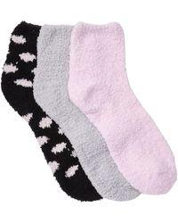 Jessica Simpson Cozy Anklet Socks - Pack Of 3 - Black