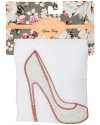 MIAMICA - White Bridal Shoe Bag - Lyst