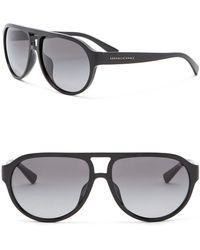 Armani Exchange - Polarized 60mm Aviator Sunglasses - Lyst