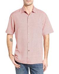 Tommy Bahama - Geo Getaway Standard Fit Print Silk Camp Shirt - Lyst
