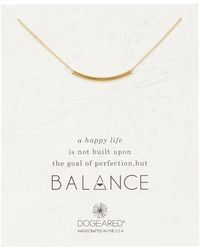 Dogeared - 14k Yellow Gold Vermeil 'balance' Curved Bar Pendant Necklace - Lyst