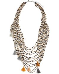 Panacea - Multistrand Crystal Statement Necklace - Lyst