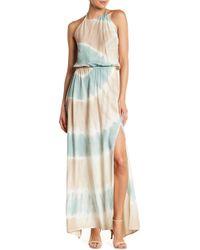 AAKAA Tie Dye Halter Maxi Dress - Multicolor