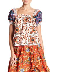 Joie - Cleona Printed Woven Blouse - Lyst