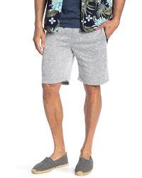The Narrows Speckled Streak Zip Pocket Fleece Shorts - Gray