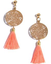 Shiraleah Bali Filigree Tassel Drop Earrings - Multicolor