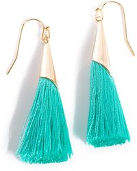 Shiraleah Tallulah Tassel Earrings - Blue