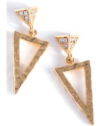 Shiraleah - Nina Triangle Drop Earrings - Lyst