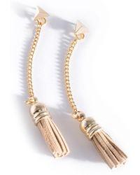 Shiraleah - Aerin Leather Tassel Drop Earrings - Lyst