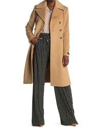 Donna Karan Wool Blended Brody Coat - Natural