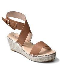 Nicole Miller Corbin Wrap Ankle Strap Espadrille Sandal - Brown