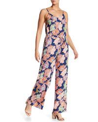 Michael Stars - Floral Print Wide Leg Jumpsuit - Lyst