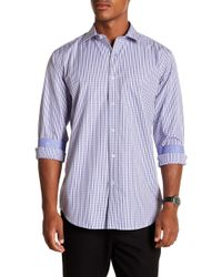 Bugatchi - Striped Long Sleeve Classic Fit Shirt - Lyst