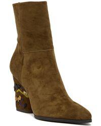 Donald J Pliner - Vanti Embroidered Heel Boot - Lyst