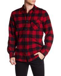 Indigo Star - Front Button Long Sleeve Flannel Shirt - Lyst