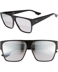 Dior 62mm Flat Top Sunglasses - Gray