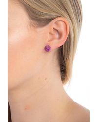 e6fa285b7 Marc Jacobs Mj Rope Coin Stud Earrings in Metallic - Lyst