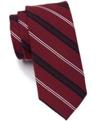 1901 Striped Tie - Red