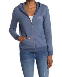 Faherty Brand Travelers Zip Front Hoodie - Blue