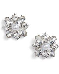 Marchesa - Imitation & Crystal Stud Earrings - Lyst