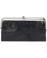 Hobo International Lauren Embossed Leaher Wallet Clutch - Black