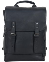 """Kenneth Cole Reaction Colombian Leather Single Compartment 15.0"""" Computer Travel Backpack - Black"""