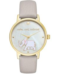Kate Spade - Women's Metro Leather Strap Watch - Lyst