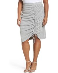 Sejour - Side Ruched Pencil Skirt - Lyst