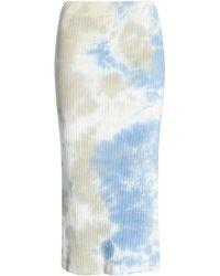 Heartloom Blair Tie Dye Stretch Cotton Midi Skirt - Blue