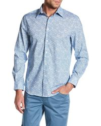 Perry Ellis - Striped Long Sleeve Regular Fit Shirt - Lyst