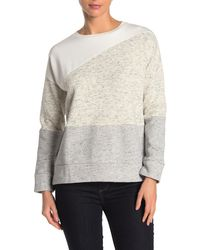 French Connection Heathered Colorblock Dolman Sweatshirt - Grey
