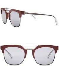 Emporio Armani - Clubmaster 52mm Acetate Frame Sunglasses - Lyst