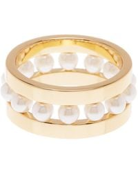 Rebecca Minkoff - Beaded Ring - Size 7 - Lyst
