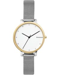 Skagen - Hagen Mesh Strap Watch, 34mm - Lyst