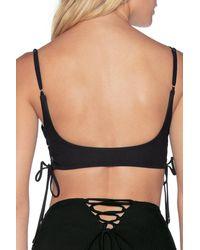 Maaji Artemis Portico Bikini Bralette Top - Black