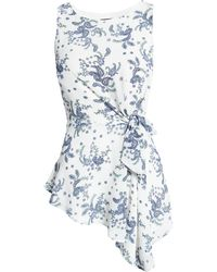 Two By Vince Camuto Paisley Asymmetric Tunic Tank - Blue