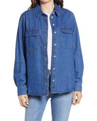 Treasure & Bond Denim Shirt Jacket - Blue