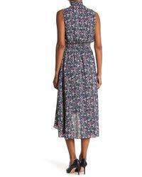 Nanette Lepore Sleeveless High/low Midi Dress - Multicolor